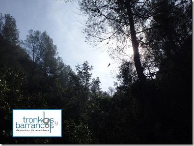 Via ferrata Fuente Godalla  descenso de barranco Gorgo de la escalera, barranquismo en Valencia Via ferrata Fuente Godalla