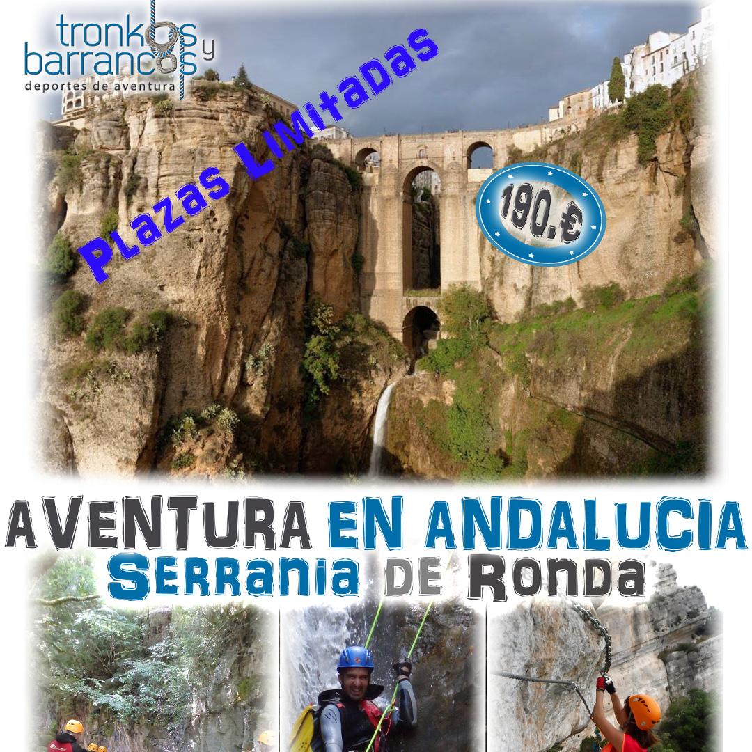 Barranquismo por Andalucía