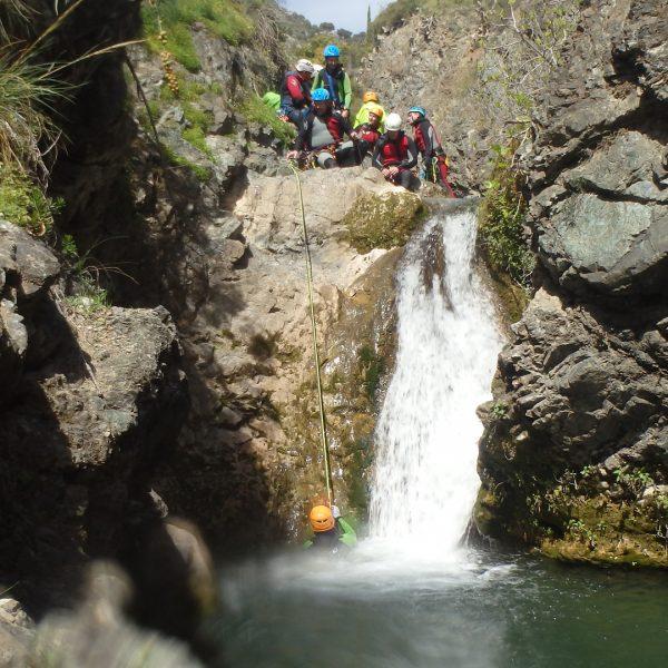 Barranco de Jorox con tronkos y barrancos